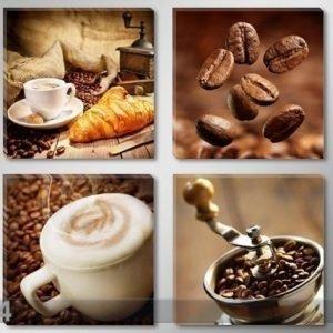 Ed Neliosainen Seinätaulu Kahvi
