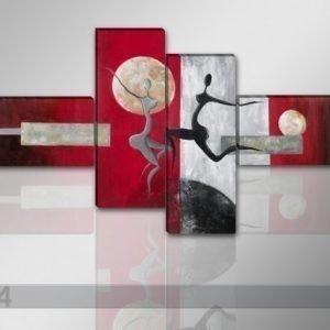 Ed Neliosainen Seinätaulu Moderni 195x80 Cm