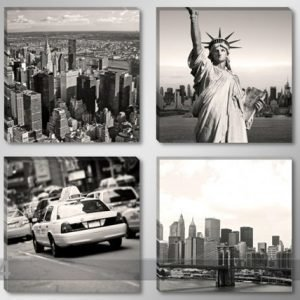 Ed Neliosainen Seinätaulu New York Usa 4x30x30 Cm