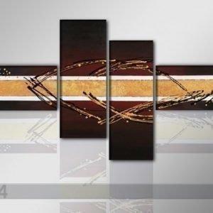 Ed Neljäosainen Öljymaalaus Taito 195x80 Cm
