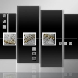 Ed Neljäosainen Seinätaulu Abstrakt 130x80 Cm