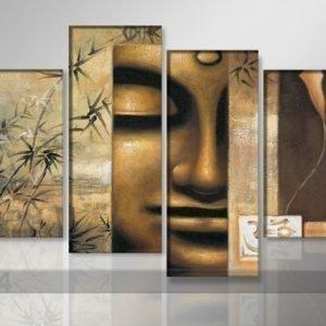 Ed Neljäosainen Seinätaulu Buddha 130x80 Cm