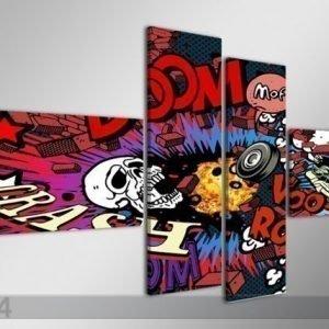Ed Neljäosainen Seinätaulu Grafiti 160x70 Cm