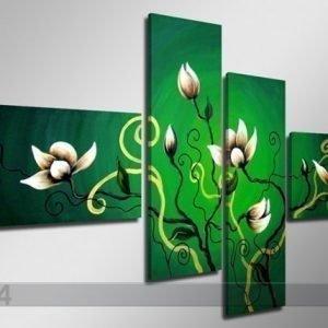 Ed Neljäosainen Seinätaulu Kukka