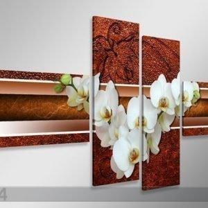 Ed Neljäosainen Seinätaulu Orkidea 160x70 Cm