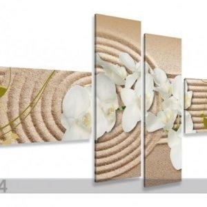 Ed Neljäosainen Seinätaulu Orkidea Hiekalla