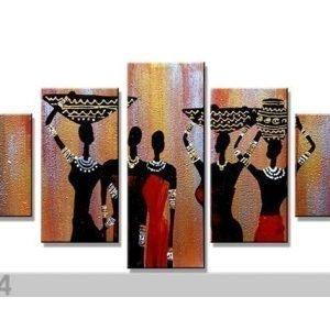 Ed Viisiosainen Seinätaulu Afrikka 160x80 Cm