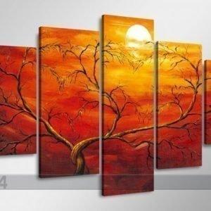 Ed Viisiosainen Seinätaulu Auringonlasku
