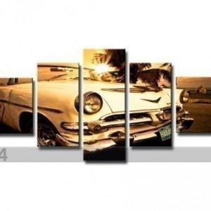 Ed Viisiosainen Seinätaulu Auto