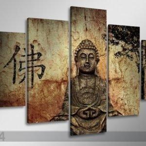 Ed Viisiosainen Seinätaulu Buddha