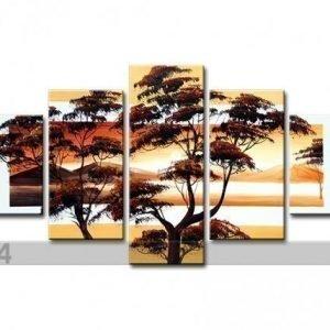 Ed Viisiosainen Seinätaulu Japanin Puu 2