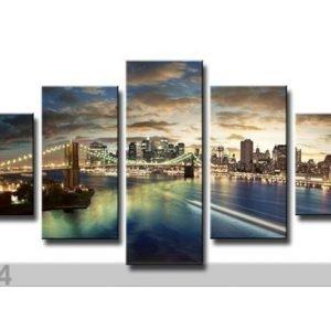 Ed Viisiosainen Seinätaulu New York 160x80 Cm