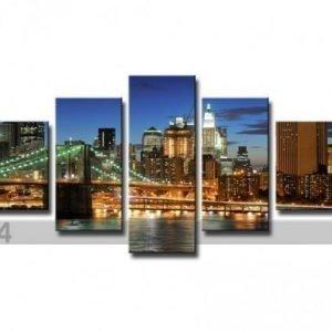 Ed Viisiosainen Seinätaulu New York