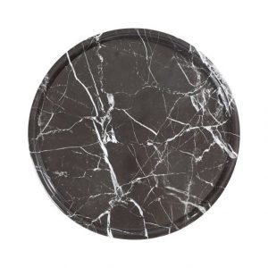 Eightmood Black Marble Tarjotin Ø 41 cm