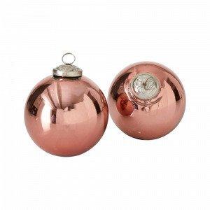 Ellos Joulupallot Roosa 2-Pakkaus
