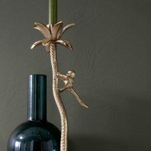 Ellos Palmtree Kynttilänjalka Messinkiä 38 Cm