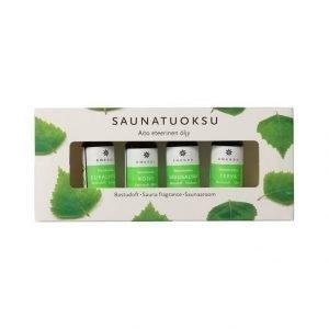 Emendo Saunatuoksu 4 X 10 Ml + Seinäteline