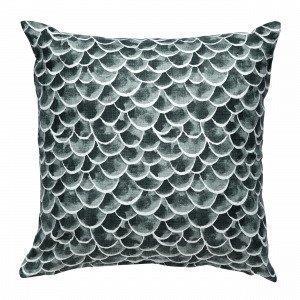 Emma Von Brömssen Fjader Cushion Fjäder Koristetyyny Sinivihreä 50x50 Cm