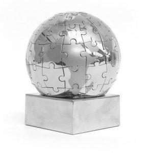 Excel Globus palapeli hopea
