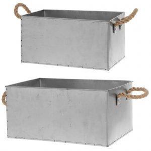 Fanni K Metallilaatikko Juuttikahvoilla 2 Kpl