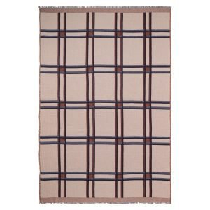 Ferm Living Checked Wool Blend Huopa Beige