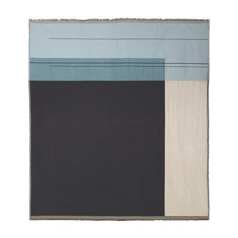 Ferm Living Colour Block Päiväpeite Dusty Blue Sininen