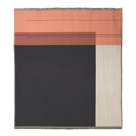 Ferm Living Colour Block Päiväpeite Rose Vaaleanpunainen