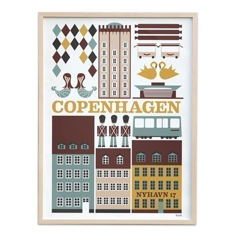 Ferm Living Copenhagen Juliste Iso: 50x70 cm