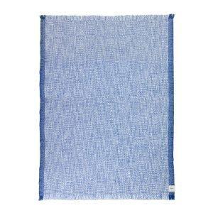 Ferm Living Enfold Villahuopa Sininen / Valkoinen