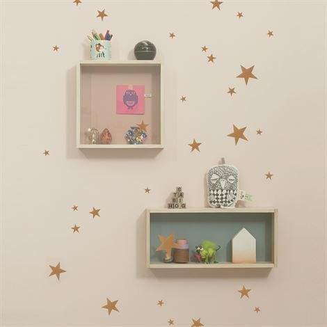 Ferm Living Mini Stars Seinäkoriste Kupari