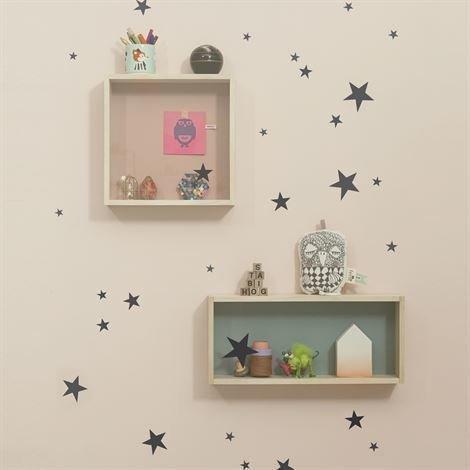 Ferm Living Mini Stars Seinäkoriste Musta