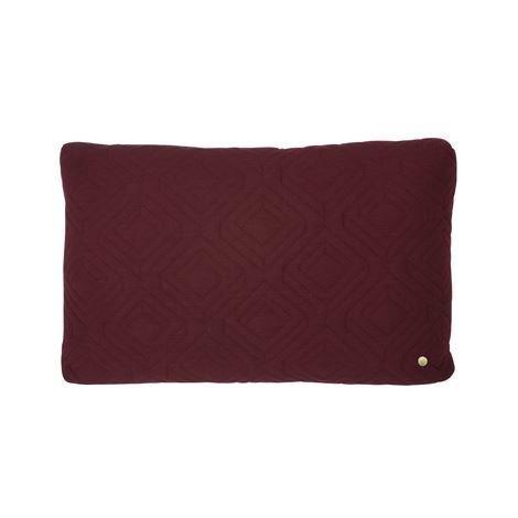 Ferm Living Quilt Tyyny 60x40 cm Bordeaux Punainen