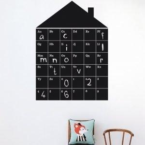 Ferm Living Stickers Abc House Sisältää Liidut Sisustustarrat
