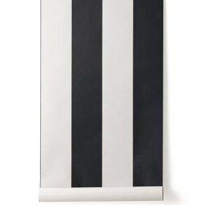 Ferm Living Vertigo Tapetti Musta / Off White