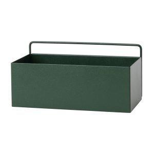 Ferm Living Wall Box Regtangle Tummanvihreä