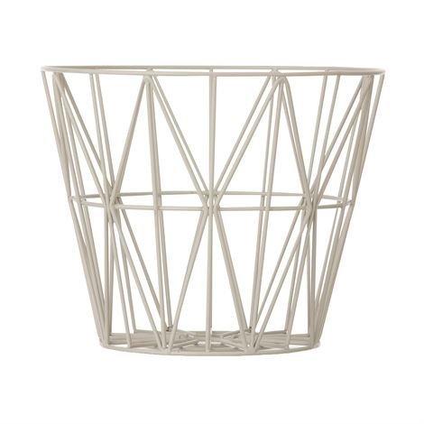 Ferm Living Wire Kori Harmaa Keskikokoinen 50x40 cm