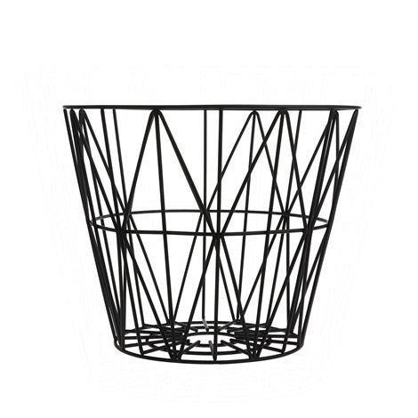 Ferm Living Wire Kori Musta Pieni 40 x 35 cm