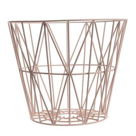Ferm Living Wire Kori Roosa Pieni 40 x 35