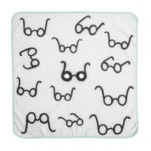 Fine Little Day Bu! Goggles Blanket Viltti Vihreä 60x60 Cm