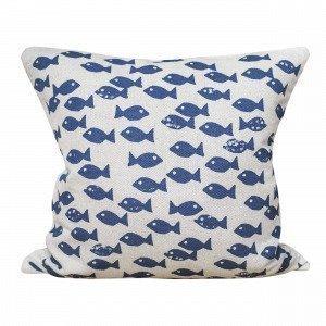 Fine Little Day Fish Koristetyynynpäällinen Sininen 48x48 Cm