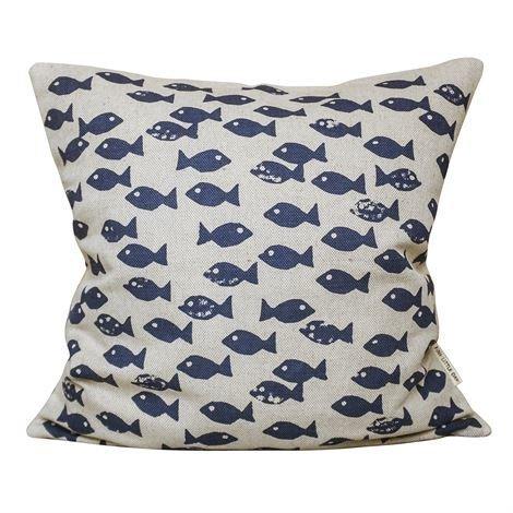 Fine Little Day Fish Tyynynpäällinen Sininen