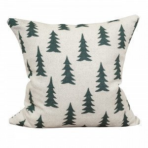 Fine Little Day Gran Mixed Cushion Cover Tyynynpäällinen Tummanvihreä 48x48 Cm
