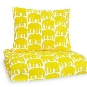 Finlayson Elefantti pussilakanasetti 150 x 210 cm keltainen