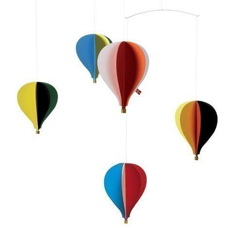 Flensted Mobiles Balloon 5 Mobile Monivärinen