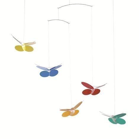 Flensted Mobiles Butterflies Mobile Monivärinen