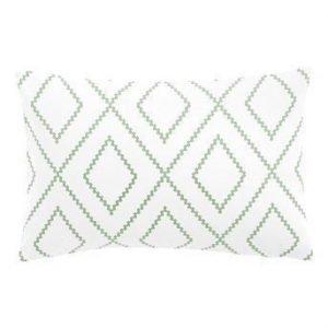 Fondaco Tyynynpäällinen 2-Pakkaus Valkoinen Vihreä