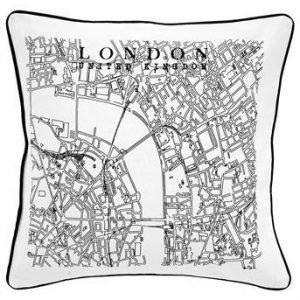 Fondaco Tyynynpäällinen London Musta Valkoinen