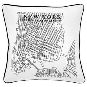 Fondaco Tyynynpäällinen New York  Musta Valkoinen
