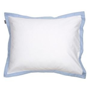 Gant Home Sateen Border Tyynyliina Hamptons Blue 50x60 Cm