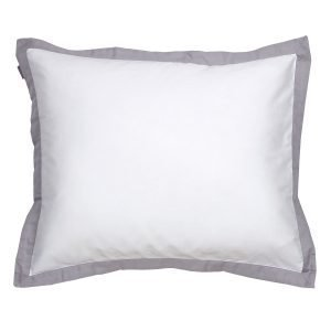 Gant Home Sateen Border Tyynyliina Moon Grey 50x60 Cm